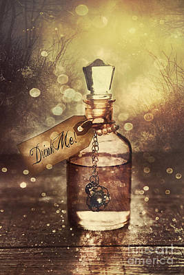 Photograph - A Little Bottle With A Potion That Says Drink Me by Sandra Cunningham