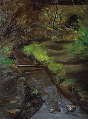 Painting - A Little Brook In Central Park by Robert Holden