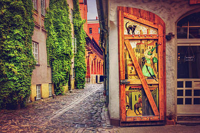 Medieval Entrance Photograph - A Little Corner Of Riga  by Carol Japp