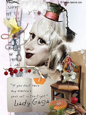Digital Art - A Little Gaga by Larisa Isaeva