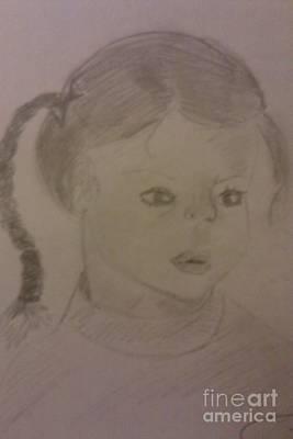 A Little Girl Art Print