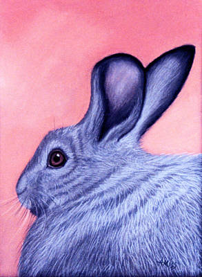 Pastel - A Little Grey Hare by Jan Amiss