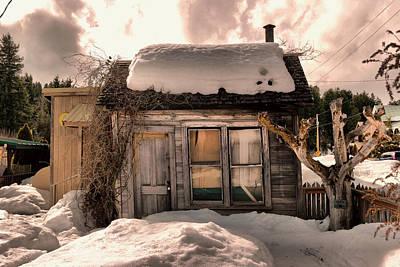 A Little House In Roslyn Washington Art Print by Jeff Swan
