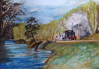 Painting - A Little More Countryside A Little Less Locomotive by Carole Robins