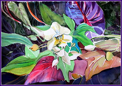 Drawing - A Little Orchid by Mindy Newman