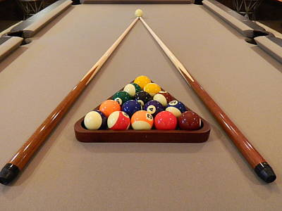 Pool Table Photograph   A Little R And R By Arlane Crump