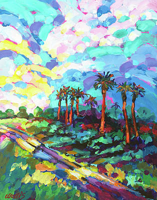 Wall Art - Painting - A Little Road Through Paradise by Charles Wallis