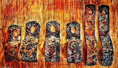 Photograph - A Little Rusty Line Up 2 by Debbie Portwood