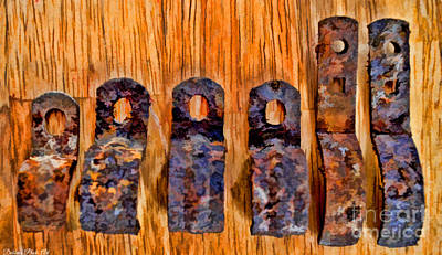 Photograph - A Little Rusty Line Up 3 by Debbie Portwood