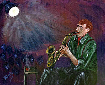 Painting - A Little Sax by Donna Blackhall
