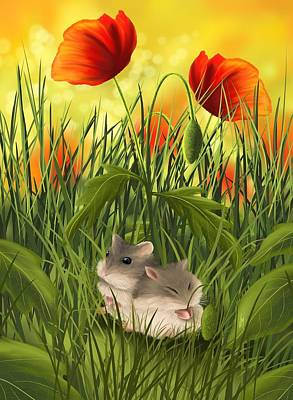 Poppies Field Painting - A Little Sleep by Veronica Minozzi
