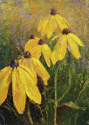 Black-eyed Susan Painting - A Little Sunshine by Tracie Thompson