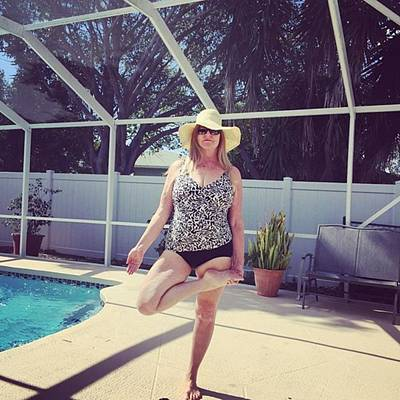 Photograph - A Little Tree Pose By The Pool Today by Melissa Abbott