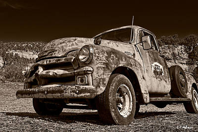 Photograph - A Little Wear - Sepia by Christopher Holmes