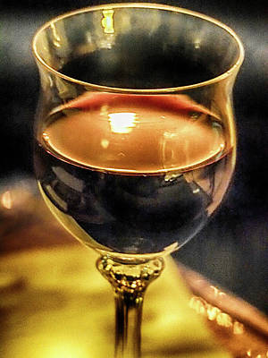 Photograph - A Little Wine by C H Apperson