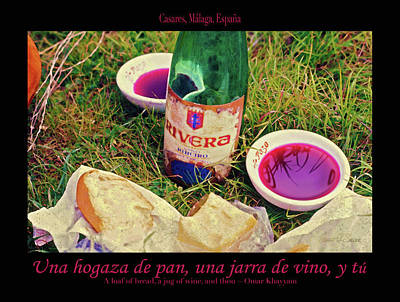 Photograph - A Loaf Of Bread, A Jug Of Wine... by Robert J Sadler