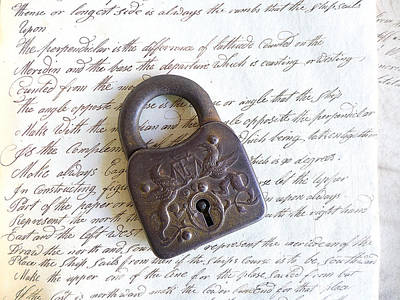 Photograph - A Lock On Cursive by Colleen VT