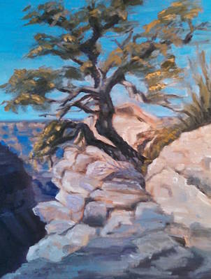 Painting - A Lone Tree by Marcia Hochstetter