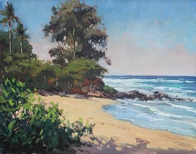 Hanalei Painting - A Look At Haena by Pierre Bouret