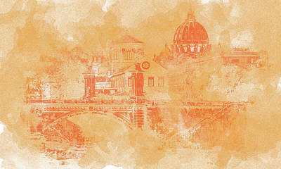 Painting - A Look At History - Rome by Andrea Mazzocchetti