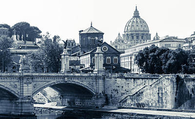 A Look At History - St. Peter's Basilica Art Print by Andrea Mazzocchetti