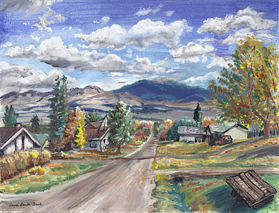Painting - A Look Down The Street by Dawn Senior-Trask