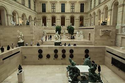 Photograph - A Look Inside The Louvre by Hany J