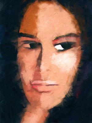 Painting - A Look by Lutz Baar