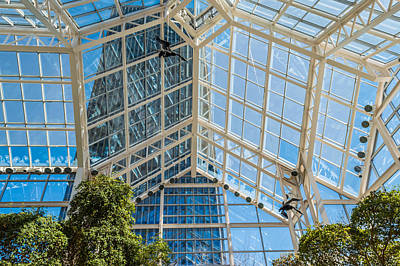 Xerox Photograph - A Look Up At Legacy Tower Atrium by Ray Sheley