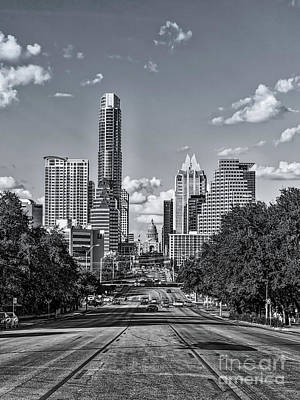 Cityscape Photograph - A Look Up Congress Black And White by Tod and Cynthia Grubbs