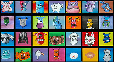 Tooth Fairy Painting - A Lot Of Character by Jera Sky
