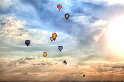 A Lot Of Colorful Hot-air Balloons Art Print