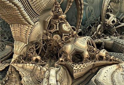 Digital Art - A Lot Of Hidey Holes by Hal Tenny