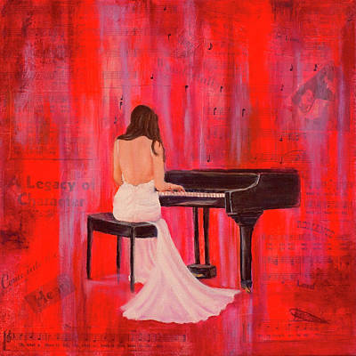Prophetic Mixed Media - A Love Song by Jeanette Sthamann