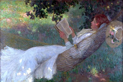 Novel Painting - A Love Story by E Phillips Fox