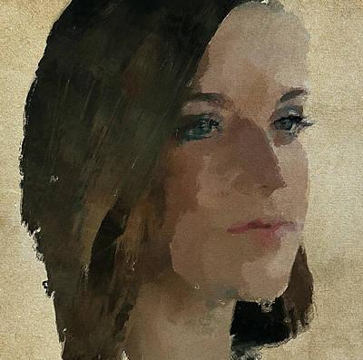 A Lovely Girl Art Print