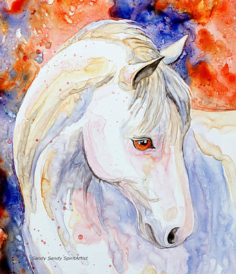 Painting - A Lovely Horse by Sandy Sandy
