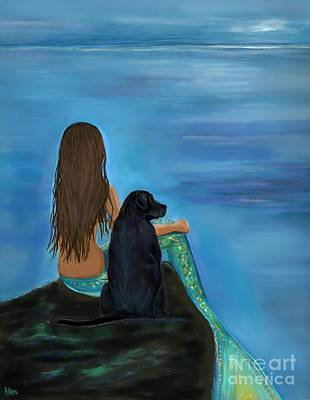 Painting - A Loyal Buddy by Leslie Allen