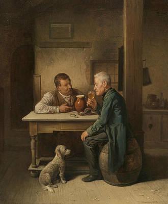A Loyal Companion Art Print by Friedrich Friedlander