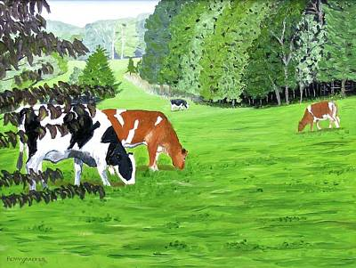 Painting - A Lush Summer Pasture by Barb Pennypacker