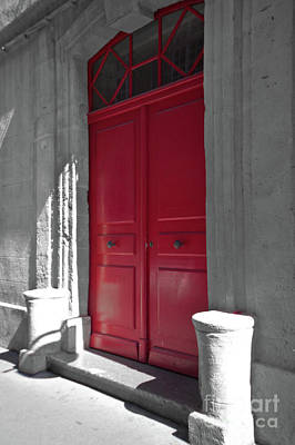 Photograph - A Magic Red Door by Christine Amstutz