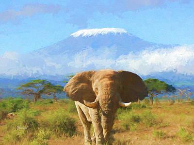 The Snows Of Kilimanjaro Art Print by Garland Johnson