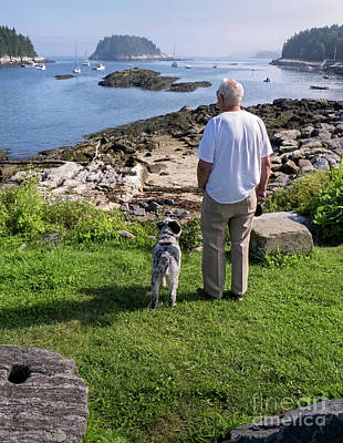 Photograph - A Man And His Best Friend, Georgetown, Maine #60530 by John Bald