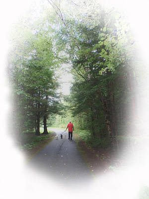 Photograph - A Man And His Dogs by Judy Hall-Folde