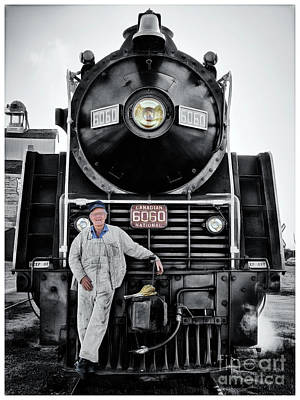 Photograph - A Man And His Locomotive by Brad Allen Fine Art