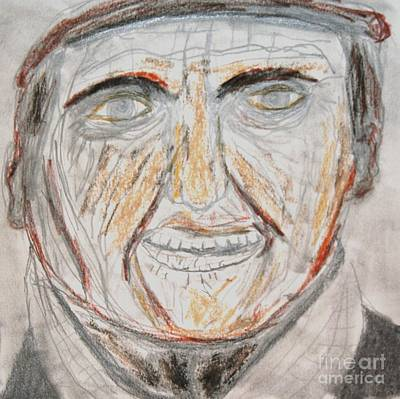 Drawing - A Man At The Pub by Victoria Hasenauer