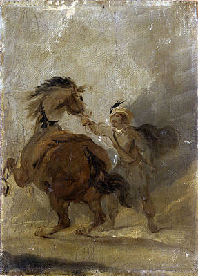 Painting - A Man Holding A Horse by Francis Bourgeois