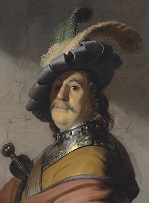 Painting - A Man In A Gorget And Cap by Rembrandt