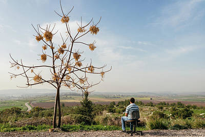 Photograph - A Man Overlooking The Countryside by Alexandre Rotenberg