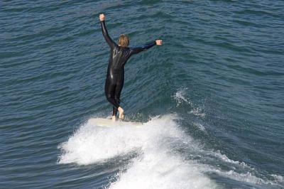 Gaviota Photograph - A Man Surfs A Longboard At Refugio by Rich Reid